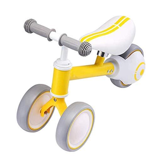 YEXINTMF Balance Car Baby Balance Bike for niños pequeños Juguetes for bebés for niños de 1-2 años Triciclo Primer Regalo for Crecer (Color : Yellow)