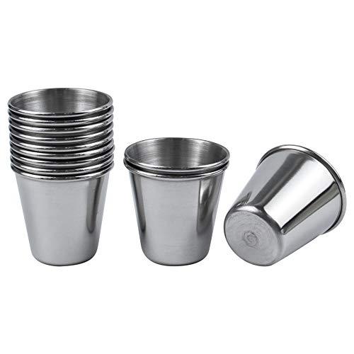 AUEAR, Vasos de chupito de acero inoxidable, 12 unidades, para camping, senderismo, deportes al aire libre, 1 oz/30 ml