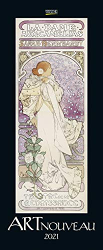 Art Nouveau 2021: Kunstkalender mit Jugendstilplakaten der Belle Époque. Wandkalender im Hochformat: 28,5 x 69 cm.