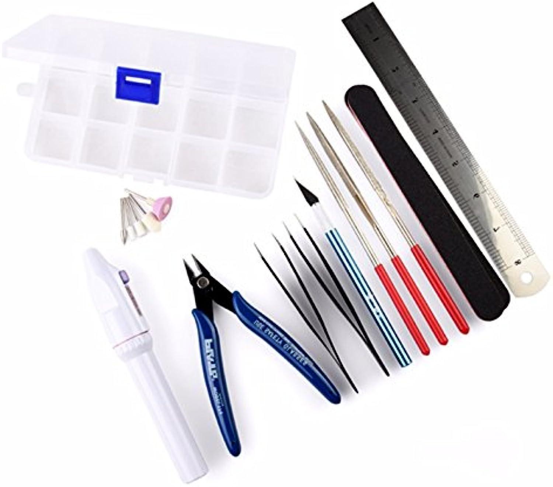 HTAIYN 12Pcs Modellierungswerkzeuge Modell Grundlegende Werkzeuge Craft Set für Gundam Modellbau Popular
