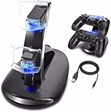 PS4 Controller Charger, Hanstend Playstation 4 / PS4 / PS4 Pro / PS4 Slim Controller USB Charging Docking Station Stand for Sony PS4 Controller