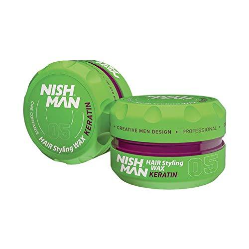 Nishman 05 cire coiffante pour cheveux à la kératine 150 ml
