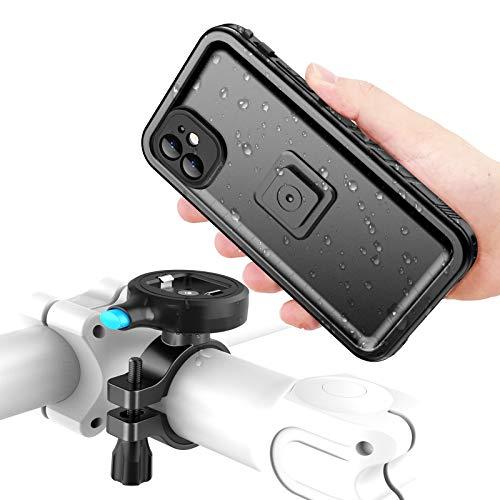 Cozycase Handyhalterung Fahrrad mit iPhone 11 wasserdichte Hülle, stabile Motorrad Halterung aus Metall, nur kompatibel mit (iPhone 11 (6,1