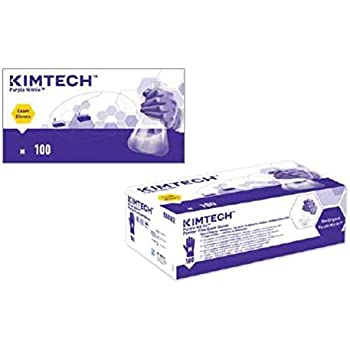 "Kimberly-Clark Purple Nitrile Exam Gloves (55082), Medium, 5.9 Mil, Ambidextrous, 9.5"", 100 Nitrile Gloves/Box"