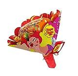 Chupa Chups - Bouquet de Sucettes Composé de 19 Sucettes - Parfum Fraise, Orange, Pomme, Cerise, Pastèque, Citron - Cadeau Original Saint-Valentin, Anniversaires, et pour Toutes Occasions