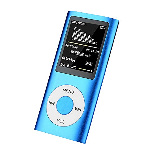 YUNYODA Reproductor Mp4, Reproductores De Música Mp4 Pantalla Grande con Radio FM, Grabación De Voz, Admite Tarjeta TF De hasta 128 GB