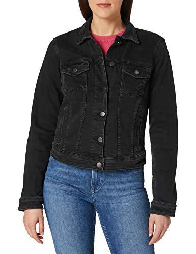 edc by ESPRIT Damen Denim Jeans Jacke, 911/BLACK Dark WASH, M