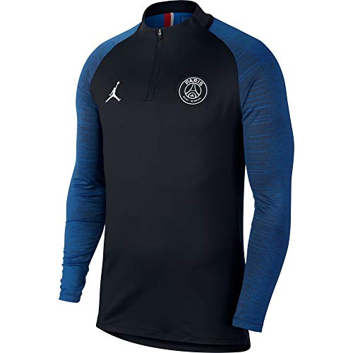 Nike Herren PSG M NK Dry Strk DRIL TOP 4TH Long Sleeved T-Shirt, Black/Hyper Cobalt/(White) (no Sponsor-plyr), M