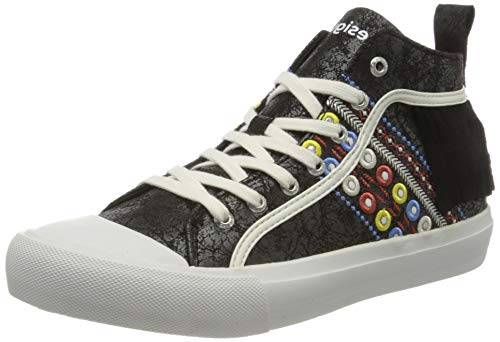 Desigual Shoes Beta New Exotic, Zapatillas Altas para Mujer, Negro 2000, 40 EU
