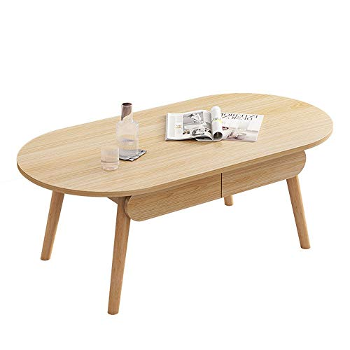 JenLn Ending Tables Cocktail Table Coffee Table Simple Modern Small Apartment Living Room Sofa Side Table Home Bedroom Simple Coffee Table (Color : Natural, Size : 100x48x47cm)