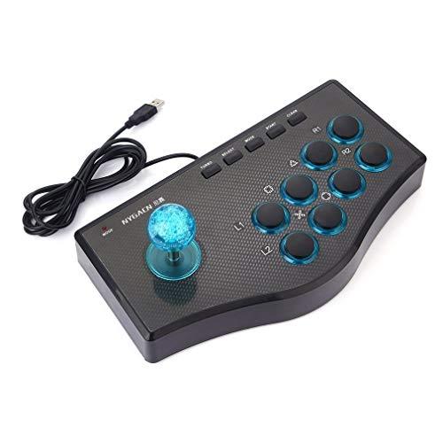 3 em 1 USB com fio controlador de jogo Arcade Fighting joystick stick console de jogosBlack