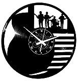 Instant Karma Clocks - Reloj de Vinilo de Pared con Disco LP de 33 RPM para Guitarra, batería Baja, música de Instrumentos Musicales, Grupo Rock, Handmade, Vintage