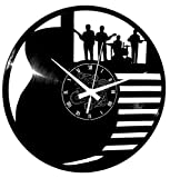 Instant Karma Clocks Horloge Murale en Vinyle Guitare Basse Rock Metal Punk Musique Clavier musicaux Groupe Rock