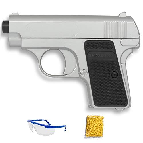 P328 plata Double Eagle Pistola de Airsoft Calibre 6mm (Arma Aire Suave de Bolas de plástico o PVC). Sistema: Muelle. <3,5J