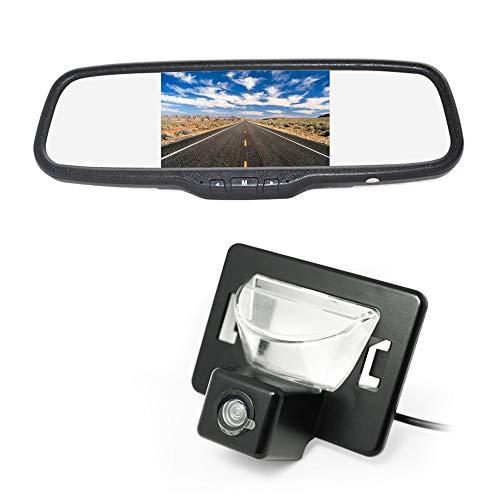 Vardsafe VS186C Reverse Backup Camera & Clip-on Rear View Mirror Monitor for Mazda Premacy Mazda 5 Ford i-MAX (2005-2010)