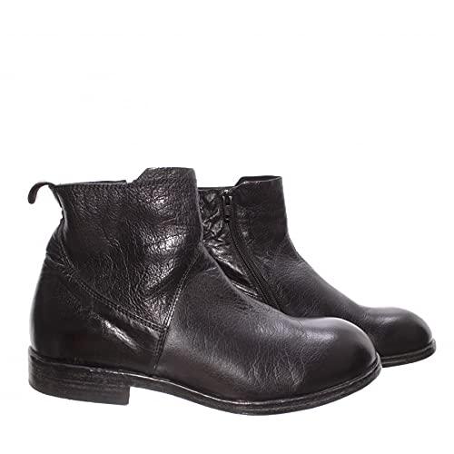 moma scarpe MOMA Scarpe Stivaletti Uomo 2CW101-BT Bufalo Nero Pelle