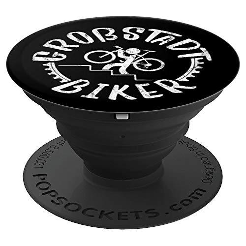 Zahnkranz Fahrrad-Träger Großstadt Biker Radfahrer - PopSockets Ausziehbarer Sockel und Griff für Smartphones und Tablets