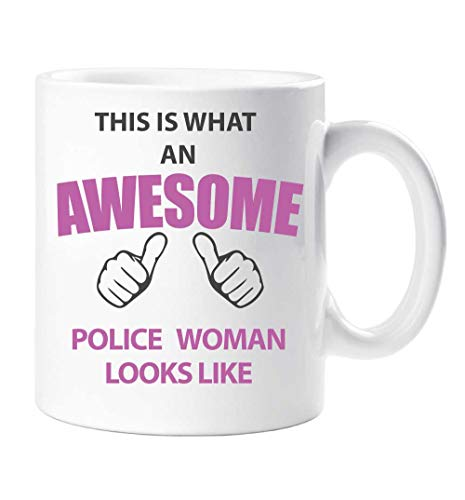 This Is What an Awesome policía mujer Looks Like Taza Regalo Taza Cum