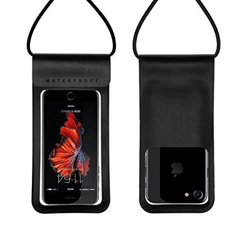 Electro-weideworld Funda Impermeable,[IPX8 Certificado] Funda Bolsa Móvil Impermeable Universal 6 Pulgadas Funda Resistente para Deportes acuaticos para iPhone/Samsung/Huawei/Xiaomi/HTC,etc (Negro)