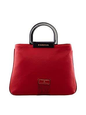 ESBEDA Red Solid Pu Synthetic Fabric Armbag For Women