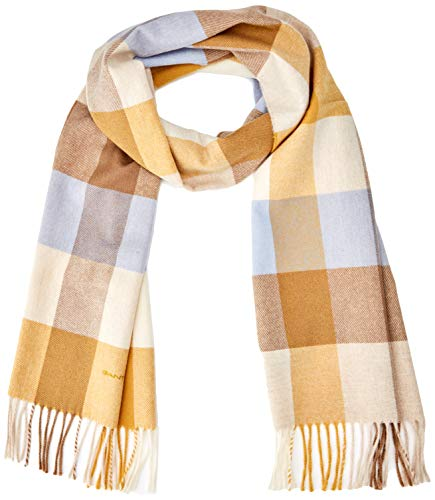 GANT Damen D2. Multi Check Scarf Schal, Gold (Honey Gold 759), (Herstellergröße: One Size)