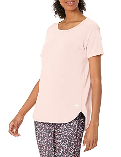 Amazon Essentials Studio Relaxed-Fit Crewneck Fashion-t-Shirts, Hellrosa Farbe, X-Large