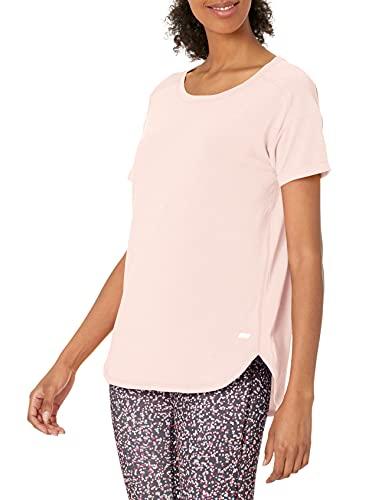 Amazon Essentials Studio Relaxed-Fit Crewneck T-Shirt Fashion-t-Shirts, Rosado claro, XS