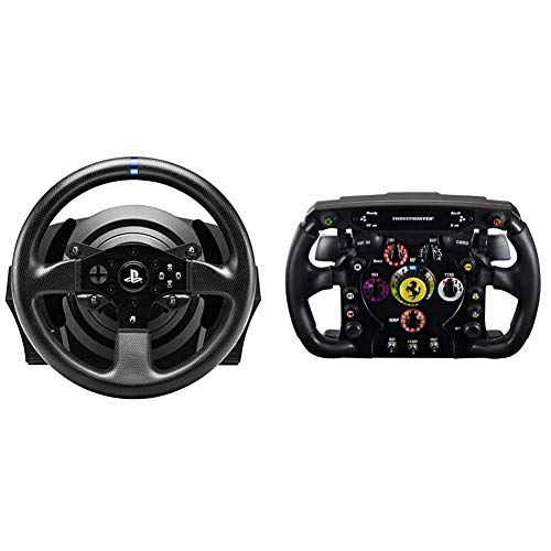 Thrustmaster T300 RS (Lenkrad inkl. 2-Pedalset, Force Feedback, 270° - 1080°, Eco-System, PS4 / PS3 / PC) Ferrari F1 Wheel AddOn (Lenkrad AddOnPS4 / PS3 / Xbox One/PC)