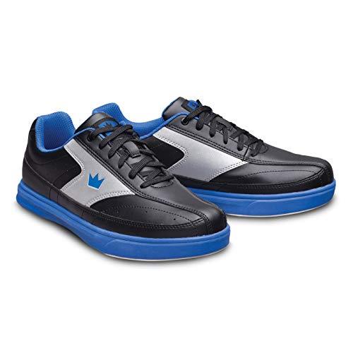 Bowling-Schuhe, Brunswick Renegade, Damen und Herren, für Rechts- und Linkshänder in 4 Farben Schuhgröße 38-47 (Schwarz/Blau, Numeric_46)