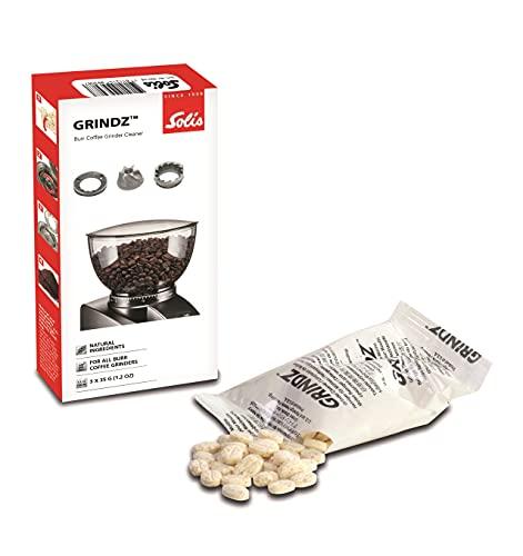 Solis Reiniger für Kaffeemahlwerk - Entfernung von Ol und Kaffeeresten - Lebensmittelecht Naturprodukt - Grindz Tabletten - 3 x 35 g