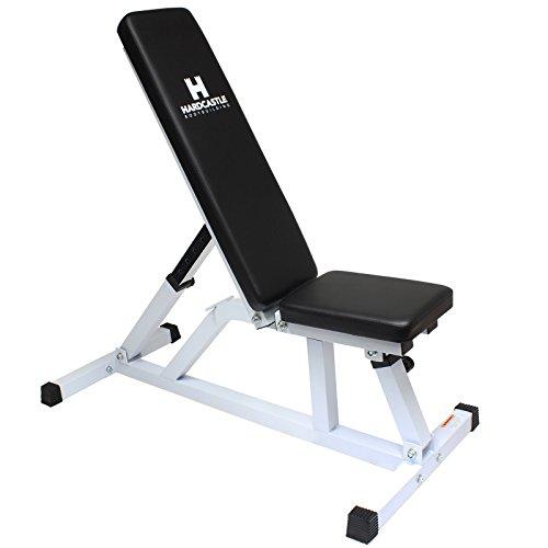 Hardcastle White Flat/Incline Adjustable Weight Bench