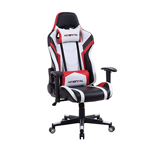 Gaming Chairs Adjustable Office Chairs with Arms and Back Support Ergonomic games Chair with Footrest Racing Design Desk Chairs Swivel Chair for Kids Teenager
