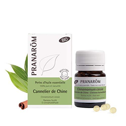 Pranarôm | Perles d'Huile Essentielle de Cannelier de Chine | Rameau Feuillé | Goût Neutre | Dosage Précis | Bio | 60 Perles