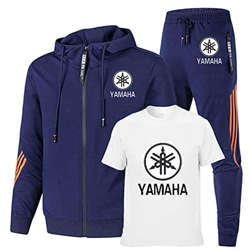 LAIQIAN Männer Sweatshirt + T-Shirt + Sport Hosen 3-Teilig für YA.MA-HA Fans Jogginganzug Trainingsanzug Kapuzenpulli Zip Jacke Sportanzug Jogginghose Hip Hop Sporthose Jogger