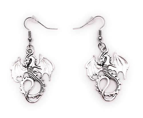 Onlineworld2013 Ohrringe Paar Drache Flügel Ohrring aus Metall Ohrschmuck