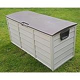 groundlevel.co.uk Amazing Weatherproof Outdoor Garden Storage Box - Brown Extra Large