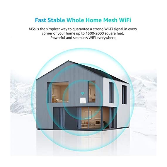 Meshforce Whole Home Mesh WiFi System M3s (Set of 1) – Dual Band Wireless Mesh Router for Range Extension – Add WiFi… 5 Meshforce's Flagship Mesh WiFi: Here is M3s Mesh WiFi System upgraded from MeshForce M1 and M3, equipped with all gigabit ethernet and even greater coverage. The dual band WiFi creates a super powerful wireless network for entire home. Capable for up to 60 devices so everyone can enjoy seamless, flawless and fast Internet. Your WiFi Jumps to Next Level: A true router replacement, as well as the wireless technology. With all new mesh WiFi technology, relax and enjoy seamless & secured single-SSID WiFi, just walk across your home and full WiFi all the time. 6+ bedrooms coverage and extension available, from basement to living room, door to backyard. Whole home, stay connected. Quick and Simple Setup: With My Mesh mobile app, setup your new M3s WiFi system in only 10 minutes. Remote management allows you see and control the WiFi status even when you are outside. Guest WiFi, parental control and more advanced features, discover in the App.
