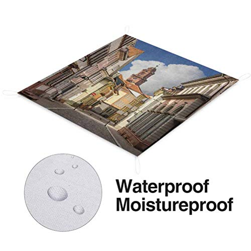 Buy Bargain Nomorer European Outdoor Blanket Waterproof, Heidelberg Old City Streets Picturesque Tow...