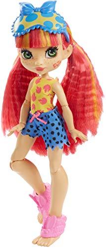 Cave Club GTH01 - Pyjamapartyspaß Emberly Puppe, bewegliche Puppe mit pinken Haaren und 3 Zubehörteilen, Geschenk für Kinder ab 4 Jahren