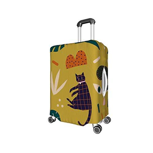 XJJ88 Plant takken en bladeren Animal Travel koffer Cover Protector - Dier gemakkelijk te identificeren 4 maten pak voor veel bagage Case