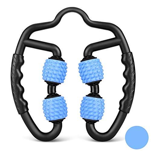 VITOP マッサージローラー 手持ち挟む式 筋膜リリース ローラー 筋膜 首 腰 足 太もも ふくらはぎ マッサージ 脚やせ むくみ解消 美足 ストレッチ フィットネス グリッド 便携 軽量 フォームローラー