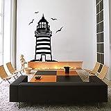Große Leuchtturm Wandaufkleber Leuchtturm Wandtattoo mediterranen Stil Home Decor Wandaufkleber...