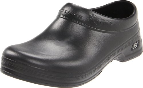 Skechers Women's Work: Oswald - Clara Clog, Black, 8 B - Medium