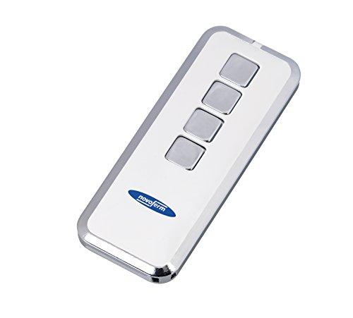 Mando a distancia para el garaje Mini Novotron 524 Design, transmisor de 4canales con código de cambios Keeloq, cifrado de 64o 128bits, 433MHz, plata/blanco, botón incluido