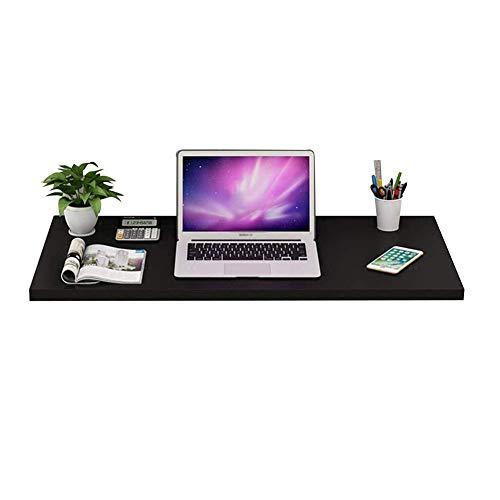 Vibrerende schrijftafel/opbergtafel, eenvoudig inklapbaar, multifunctionele computertafel, eenvoudige eettafel, 5 kleuren, 6 maten (kleur: A, grootte: 100 x 40 cm) 80 x 50cm Zwart