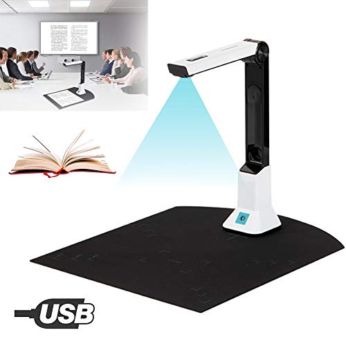 Sale!! POEO Document Camera Scanner for Teachers, HD Camera A4 Capture Size with LED Light Teaching ...