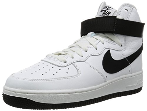 Nike Herren Air Force 1 HI Retro QS Handballschuhe, Weiß/Schwarz (Summit White Black), 41 EU