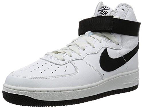 Nike Herren Air Force 1 HI Retro QS Handballschuhe, Weiß/Schwarz (Summit White Black), 41 EU