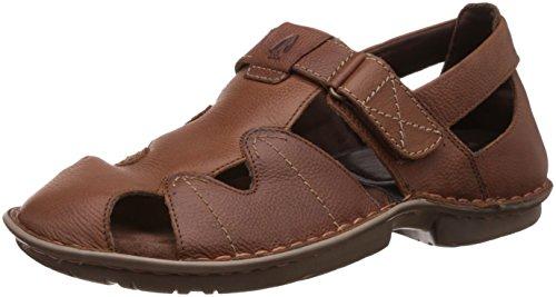 Hush Puppies Men's New Decent Oily Brown Athletic & Outdoor Sandals - 7 UK/India (41 EU) (8644943)
