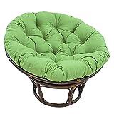 Aisima Stuhlauflage Verdicken, Papasan Outdoor Egg Nest Stuhlauflagen Runde Hängesessel Schaukel Stoffkissen (Ohne Stuhl),80 * 80cm